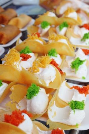 crispy crepes in Thai style pancakes Stock Photo