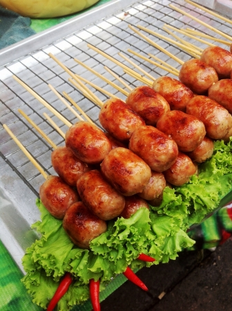 Thai style sausage with vegetable