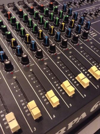Sound mixer control panel