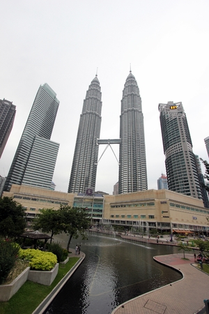 The Petronas Twin Towers, at the heart of the Kuala Lumpur city Editorial