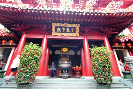 The Buddha Tooth Relic Temple in Singapore s Chinatown Editorial