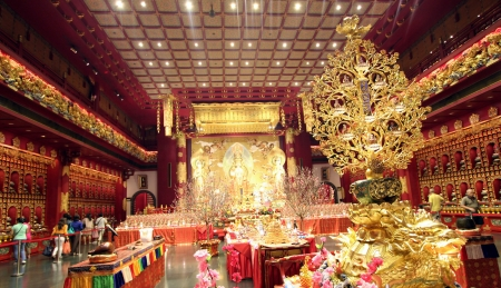 The Buddha Tooth Relic Temple in Singapore s Chinatown