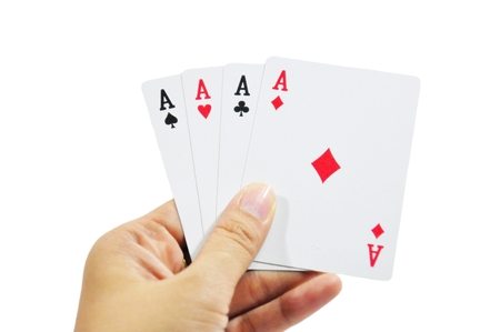 Playing cards - isolated on white