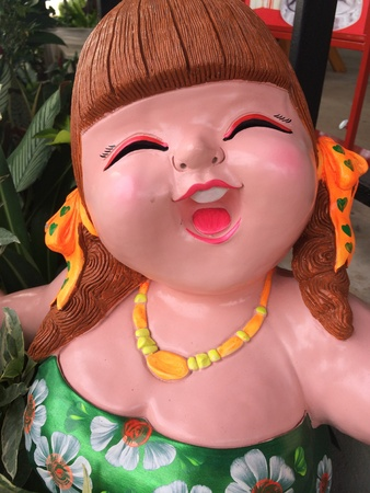 Close up of a doll