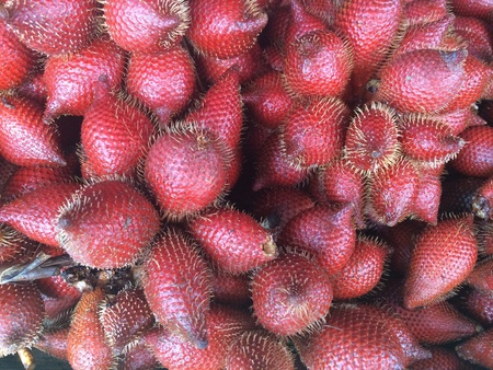 Fresh salacca fruits in the market Stock Photo