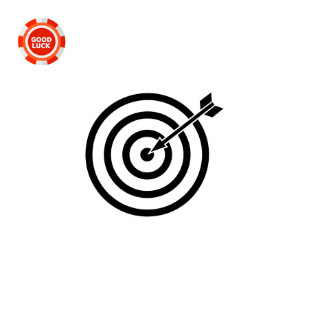 targeting: Illustration of target with arrow. Targeting, strategy, focus, marketing. Targeting concept. Can be used for topics like marketing, targeting, advertising