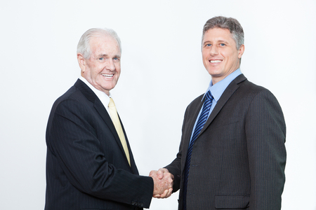 concluding: Business partners concluding successful deal