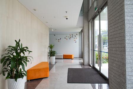 Condominium gebouwingang