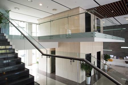 Interieurontwerp van modern gebouw Stockfoto