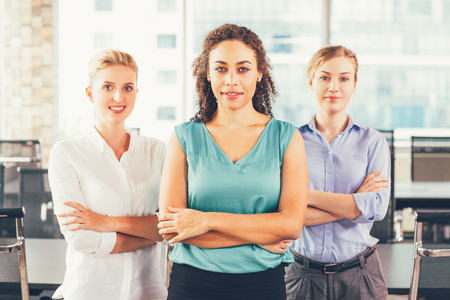 Group of Smiling Businesswomen in Office 1