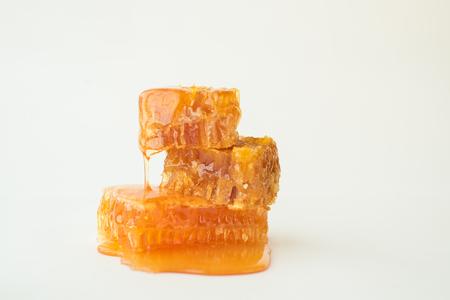 Close-up of honeycomb stack in liquid honey Zdjęcie Seryjne