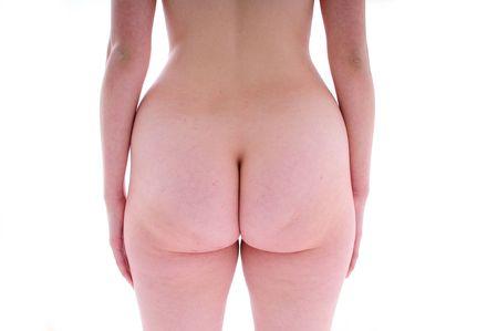 grosse fesse: dodus bas isol� sur un fond blanc