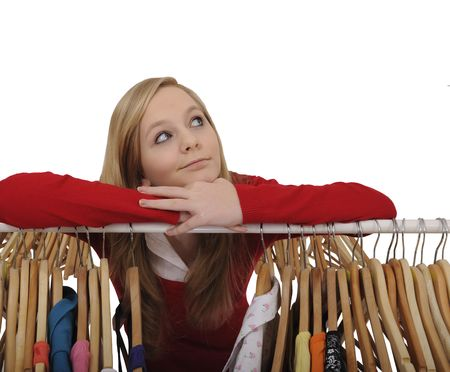 teenage girl shopping for clothes Stock Photo - 5458422