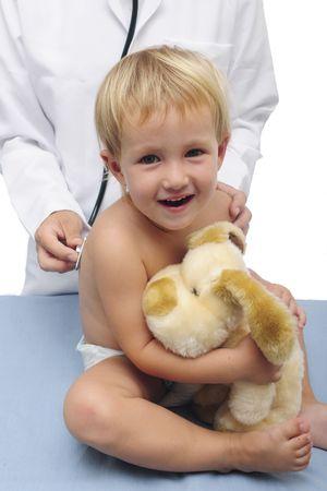 happy child and pediatrician Stock Photo - 5856815
