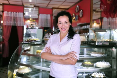 proud and confident owner of a cafe/ pastry shop Stock Photo - 6385040