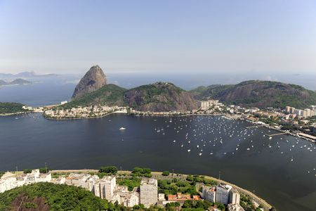 Aerial view of Sugarloaf Mountain in Rio de Janeiro photo