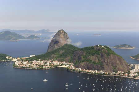 Aerial view of Sugarloaf Mountain in Rio de Janeiro Stock Photo - 6490091