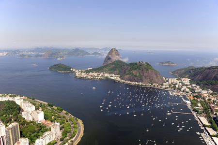 Aerial view of Sugarloaf Mountain in Rio de Janeiro Stock Photo - 6490092