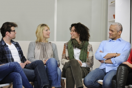 team building, group discussion or therapy Stock Photo - 12632891