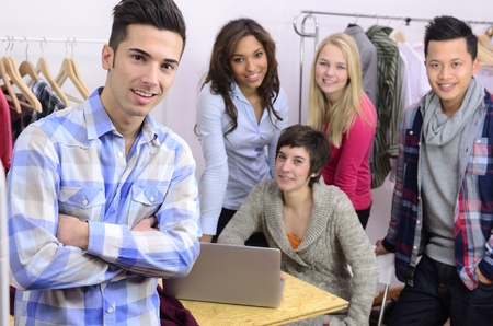 portrait of fashion designer team at work at office Stock Photo - 12632874