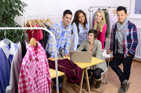 portrait of fashion designer team at work at office Stock Photo - 12632886