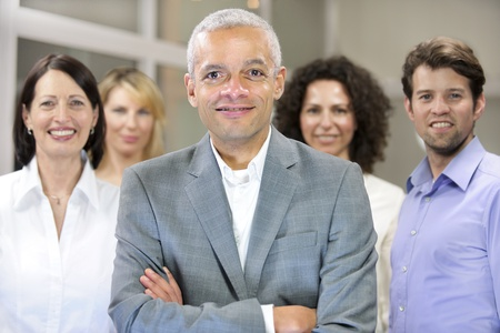 mature african american businessman and business team Stock Photo - 12632918