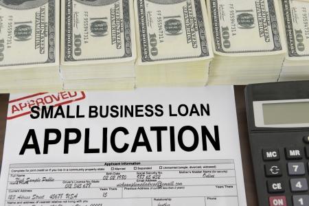 home loans: Approvato piccole imprese modulo di domanda di prestito e dollaro bollette