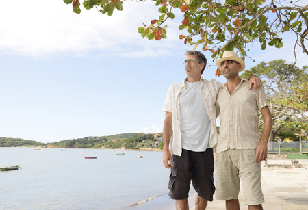 Travel: Gay couple on vacation photo