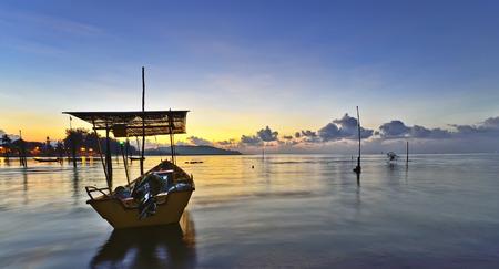 pahang: Empty fisherman boat in Pahang, Malaysia.