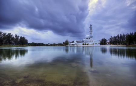 The Tengku Tengah Zaharah Mosque or the Floating Mosque is the first real floating mosque in Malaysia. It is situated in Kuala Ibai Lagoon near the estuary of Kuala Ibai River.