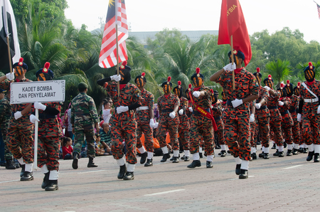 31: KUANTAN-AUG 31:Malaysians participate in National Day parade, celebrating the 58th anniversary of independence on August 31, 2015 in Kuantan, Pahang, Malaysia. Editorial