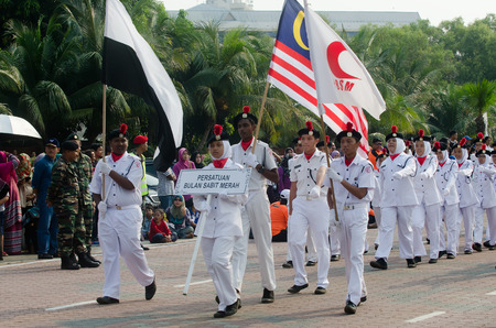 local festivals: KUANTAN-AUG 31:Malaysians participate in National Day parade, celebrating the 58th anniversary of independence on August 31, 2015 in Kuantan, Pahang, Malaysia. Editorial