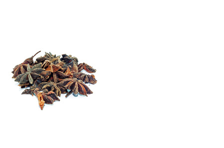 spice isolated: Star anise spice isolated on white background