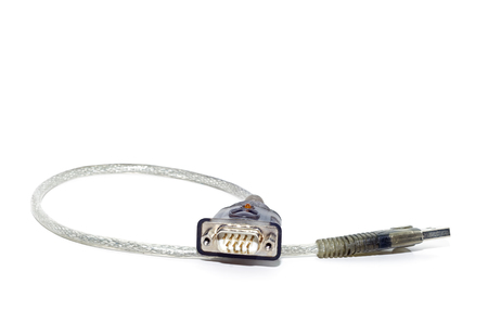 connectors: a communication cable with connectors Stock Photo