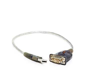 configure: a communication cable with connectors Stock Photo