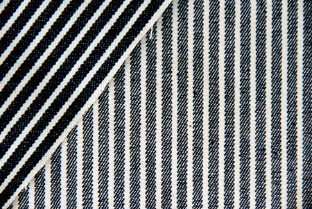 overlapped: Overlapped navy blue and white striped denim texture  Stock Photo