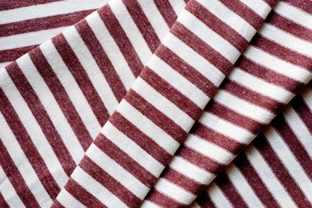twill: Folded brown striped cotton texture
