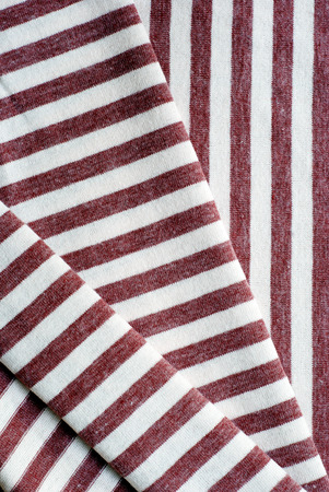 scrunch: Folded brown striped cotton texture