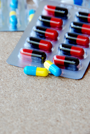 over lab: Panels of capsules,oral medicine