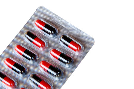 over lab: Panels of capsules isolated on white with clipping path
