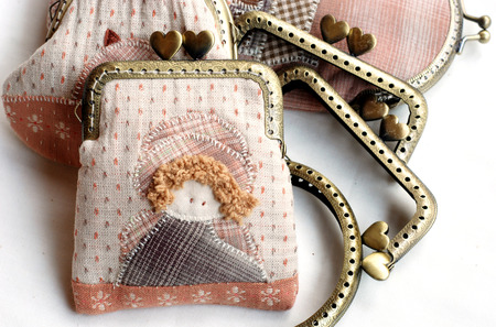 Quilting purse  Stock Photo