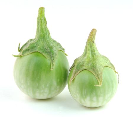 Green egg plant isolated on white background  photo