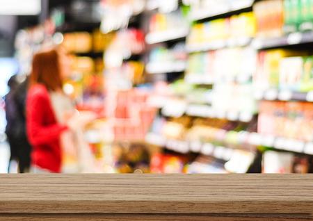 contadores: Vector vac�o sobre la falta de definici�n del supermercado con el bokeh