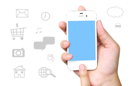 Smart phone and internet of things icons background, technology concept