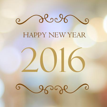 happy new year: Frohes Neues Jahr 2016 Jahre auf abstrakten Unschärfe festliche Bokeh Hintergrund