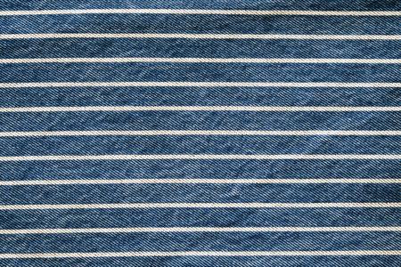 ネイビー ブルーのストライプ デニム テクスチャ バック グラウンド、ジーンズ生地 写真素材