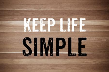 actitud: Mantenga sencilla la vida: Actitud Cotizaci�n Foto de archivo