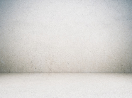 cement wall: Empty cement room in perspective view, grunge background, interior design