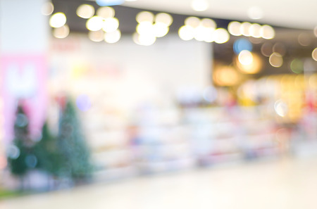 comercial: Blur store with bokeh background