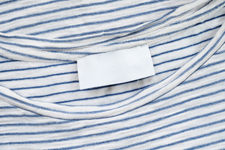 label tag: Blank fabric label on cotton T shirt , fashion and design bussiness concept